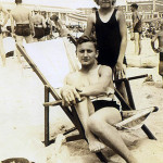 Emil Lasica, about 16, and Tory Lasica, about 10, at Seaside Heights around 1936.