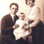 Felix and Mary Sporn with daughter Gladys in 1920.