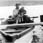 Emil Lasica holds his son Joe in a rowboat at Greenwood Lake, where his sister Jean owned a vacation house near the New Jersey-New York state border, in the spring 1956.