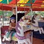Bobby on his first ever merry-go-round, in Chandler, Ariz., April 28, 2001.