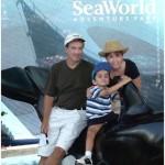 JD, Mary and Bobby at SeaWorld, Aug. 21, 2002.