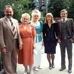 Jozef Lasica, wife Maria, daughter Renata, and cousins Mary Lasica Turalinski and Mike Lasica in Toronto in summer 1995 outside St. Mary's Polish Church at John Sudol and Karolina's wedding.
