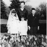Mary Lasica's first communion on June 5, 1967: Janina with children Mary, 9, Krystyna, 6, and Marian, 12.