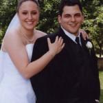Nicole Farrugia on her wedding day to Marco Marotta.