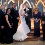 At Sarah and Jim's wedding, from left:  Joe Zimmermann, Do Re Mi, Joe Zimmermann, Sarah Margaret, Jim Maginnis, Chris Zimmermann and Dan Zimmerman
