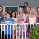 The Lasicas, Schiros and Maciags at the family reunion in Lavallette, July 2012.