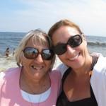 """Chris Ruppert Zimmermann In Ocean Grove, NJ, with her mom, Margaret """"Marge"""" Hanzl  Ruppert, 2012."""