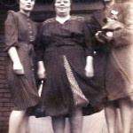 Charlotte (left) and Patricia Madansky flank their mother Anna Lasica Madansky.