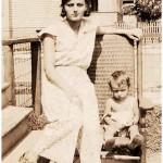 Charlotte Madansky with one of her nephews (probably Richard Schweitzer) around 1928.
