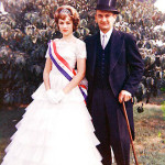Kathy Lasica with father Emil before the Pulaski Day parade, circa 1963. Kathy was princess of the parade.