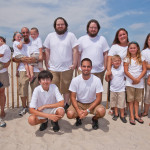 The Lasica and Schiro families gathered for a family reunion at the Jersey shore in July 2012.