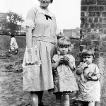 Mary Schepper Sporn with daughters Gladys, left, and Helen. Photo taken in early 1920s on School Street in Passaic.