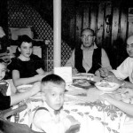 From left, Lil and George Lasica, Kathy Lasica, grandfather Wojiech George Lasica, Emil Lasica, Jessica Stagg and Joe Lasica, in late 1958 or early 1959 at  our grandparents' house at 8 Herman Street, East Paterson (a half block from Garfield), NJ. Lots of memories of Polish Christmas carols, kielbasa and borsht around the holidays.