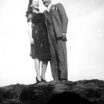 Lillian and Emil Lasica on Garrett Mountain around the time of their engagement in 1942.