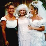 Kathy Lasica Schiro with Cynthia and Jennifer Lasica at Jennifer's wedding in 1993.