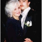 Kathy Schiro dances with her son Daniel at her daughter Gina's wedding, April 1998.