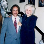 Kathy Lasica Schiro with George Lasica at Kathy's house in Bloomfield, NJ.