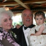 Kathy and Mike Schiro with granddaughter Ariana Barillari at daughter Dawn's wedding on July 8, 2007.