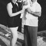 Luke Delenta with Lillian Lasica and her son Joe in Seaside Heights, NJ, summer of 1956.