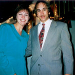 Mary with George Lasica at Gina Schiro's wedding in Bloomfield, NJ, on April 25, 1998.