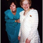 Mary Schrader Lasica and Lil Lasica at Gina Schiro's wedding, April 25, 1998.