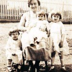 Mary Schepper Sporn with her three daughters: Lillian (in lap), Helen (left) and Gladys in 1924.