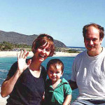 Mary, Bobby and JD on the way to Hanauma Bay, Oahu, in November 2000.