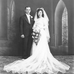 Emil Lasica and Lillian Sporn on their wedding day, March 7, 1943.