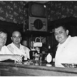 George Maciag and godfather John Lasica, with a bartender, at Joe Lasica's christening party at Pyryt's in Garfield, NJ, on Aug. 14, 1955. We spent many hours at Pyryt's, a favorite gathering spot for friends and relatives.