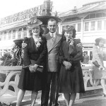 "Emil and Lillian Lasica in Atlantic City in 1941 with Jane ""Razzy"" Erazmus, left, who was bridesmaid at their wedding. Emil and Lil were engaged for two and a half years."