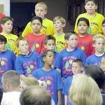 Rick Lasica, center, at a school program celebrating Arizona's heritage, spring 2001.