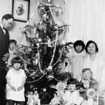 Christmas at the Sporn household in New Britain, Conn.: Felix at left, Gladys, Lillian (front left), Midge (on floor), Helen and Ernest in mother Mary's lap. Photo taken in December 1927.