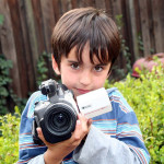The budding videographer, Feb. 25, 2006