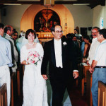 Mary and JD at their wedding in Plymouth, Calif.