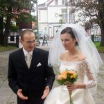 Szymon Sochacki and Ewelina Wilk on their wedding day in October 2006.