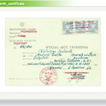 Here's Katarzyna Delenta's birth certificate, issued in 1952 in Rzeszow, Poland, showing she was born in 1890.