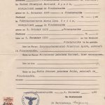 Marriage certificate of Friedrich Berthold Sporn and Marie Lina Britz, dated Dec. 1, 1900.