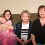 On May 26, 2014, her 4th birthday, Makayla posed with 4 generations of Lasicas: great-grandmother Sophie (Tory) Lasica Stagg, grandmother Jessica Stagg Morgan and mother Mary Katherine Morgan Reber.