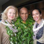Patricia Kilinski Kawaa, Earl Kawaa and Yahna Kawaa in Hawaii, early 2016.