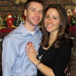 James Maginnis and Sarah Zimmermann at their first Christmas together in 2013.