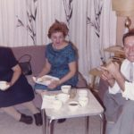 Mary Schepper Sporn with daughter Gladys Sporn and Ken Sporn's uncle John Luiszer at the Sporns' home in Wallington, NJ, in the late 1950s.