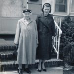 Mary Schepper Sporn and her daughter Midge Sporn at Midge's sister Glady's house in Clifton, NJ, in the late 1950s.