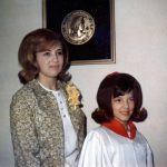 Kathy Lasica with godchild Gale Sporn at Gale's confirmation, around 1966.