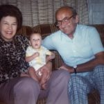 Lil and Emil Lasica with grand-niece Maureen Gelston at the Sporns' house in Wallington, NJ.