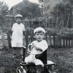 Lil Lasica, 5 1/2, and brother Ernest Sporn, 1 1/2, in New Britain, Conn., summer 1927.