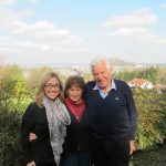Christine Ruppert Zimmermann with Mary (Mitzi) Gietl and her husband Fritz during an October 2014 family visit to Austria. Mitzi is the first cousin of Christine's mother, Margaret Hanzl.