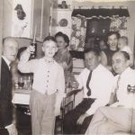 From left, Frank Gajewski, Greg Gajewski (then 10), Vi Lasica Maciag, George Maciag, Lil Sporn Lasica holding baby Joseph Lasica and Emil Lasica in late 1955.
