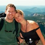 Eric Lee Washburn and Robin Schepper during one of their frequent hiking trips.